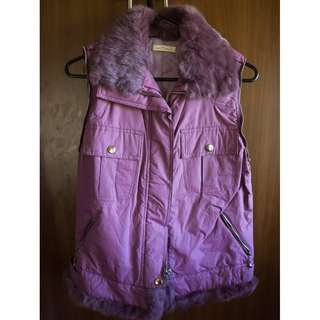 Purple Vest with Faux Fur