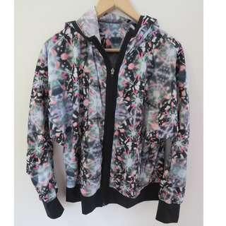 Adidas climaproof multi colour light jacket - Size 10