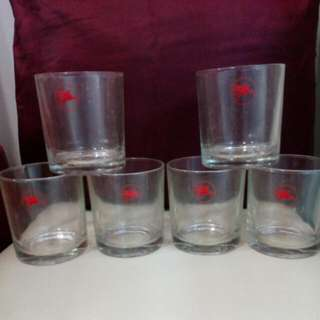 Authentic Mobil Logo Glass