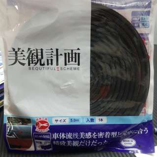 SCHEME SILENCE (Double D) DIY Air Tight Slim Rubber Seal Stripe Sound & Wind Proof & Sound Proof