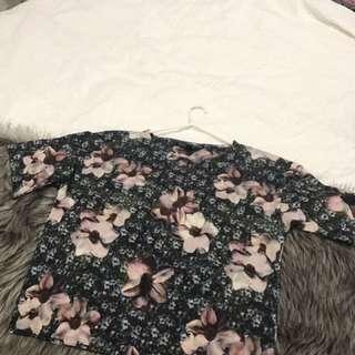 Top shop Floral Top Size 6