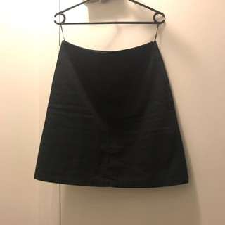 APC Navy A-Line Skirt Size 38 (Medium Or Aus Size 10)