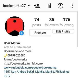 Book Marka's Official Instagram Account