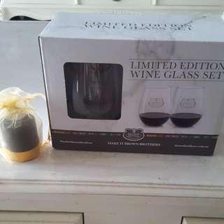 Wine Glass And Wine Stoper