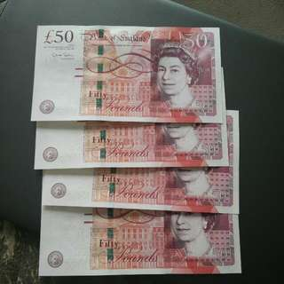 2010 BRITAIN UK 50 POUND GBP CURRENCY NOTE