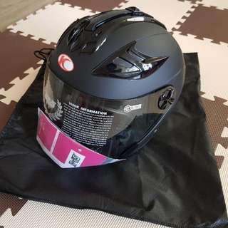 光陽 GP5 KYMCO 222B 半罩式安全帽 3/4 消光黑