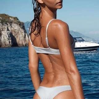 Sommer Swim Elle Bikini Top In Silver