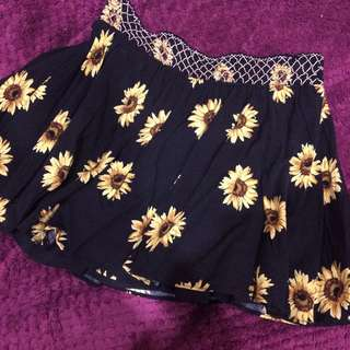 hippie flower skirt