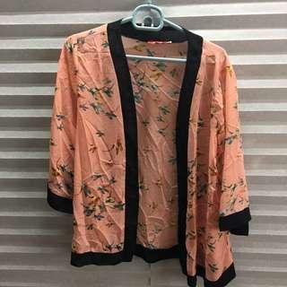 UNA Peach Kimono Cardigan (free Pos)