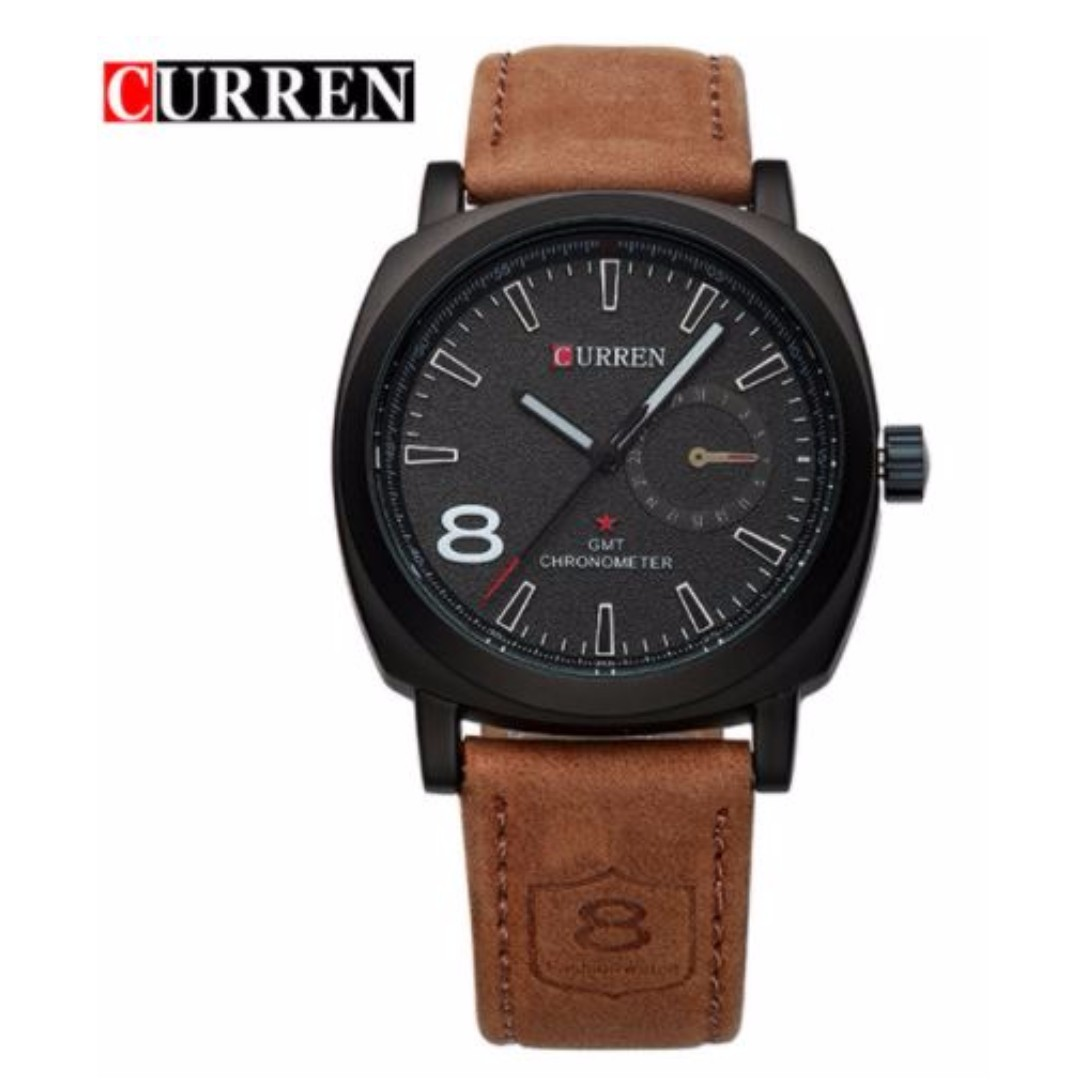 7ebec561633 2016 CURREN Luxury Brand Men Quartz Luminous Watch Fashion Sport Leather  Strap Wristwatches Relogio Masculino Free postage