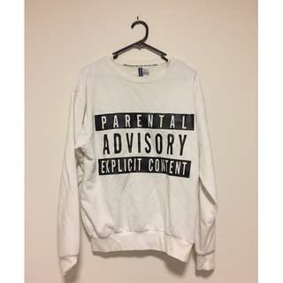 HnM Parental Advisory Sweater Size S