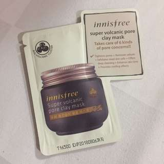BONUS Innisfree Super Volcanic Pore Clay Mask
