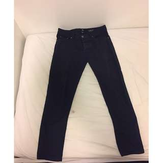 HnM Navy Cotton Long Pants Size 29
