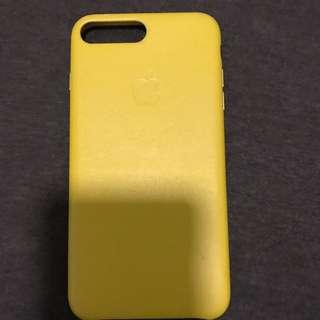 黃色 iPhone 7plus 真皮手機殻
