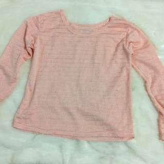 korean pink long sleeves