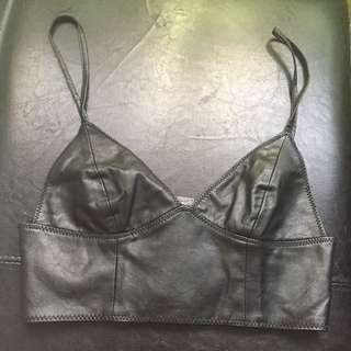 Black Leatherette Bralette