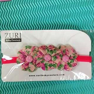 Zuri Baby Couture Barefoot Sandal And Headband