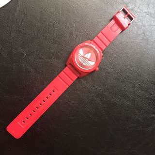 Adidas Red Silicone Watch
