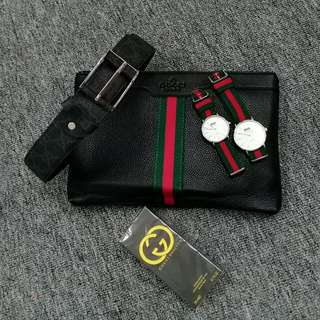 Gucci Men Clutch 5in1 Set