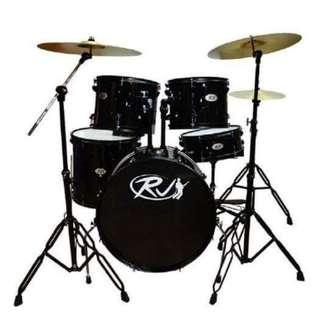 RJ Drum Set WINE RED, BLUE, BLACK