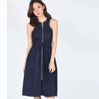 LB Dawnika Denim Midi Dress XS