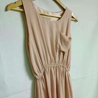 Baby Pink Chiffon Dress