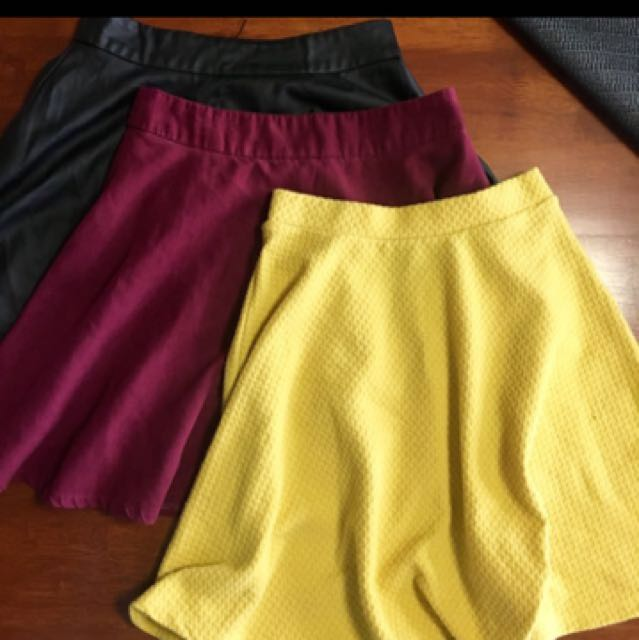 3 Skirts. $5 For All.