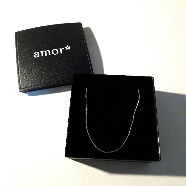 925 sterling silver amor* necklace