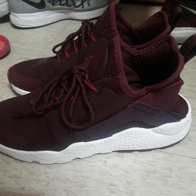 9.5成新 24.5 Nike 皮革酒紅武士鞋