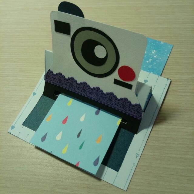 拍立得卡片。手作卡片。拍立得立體卡片。客製化立體卡片