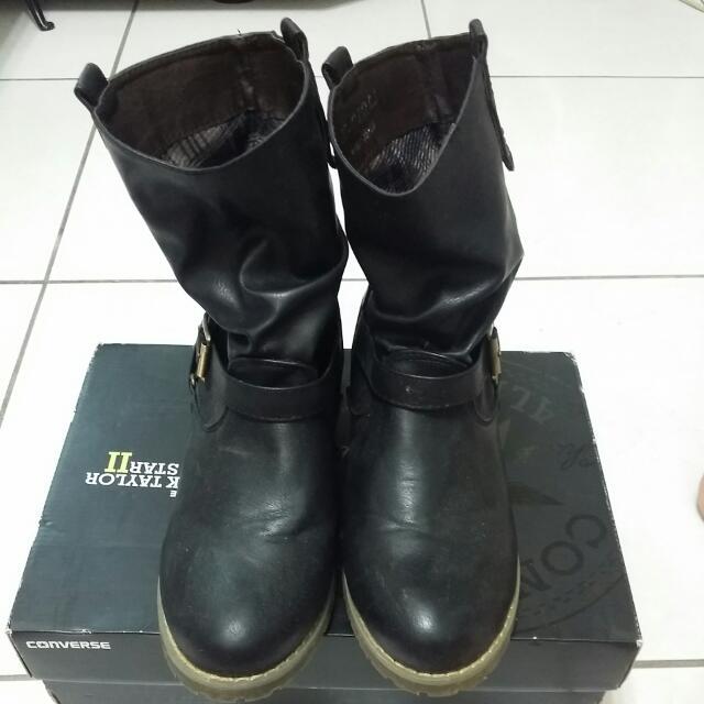 半高統黑靴 尺寸39