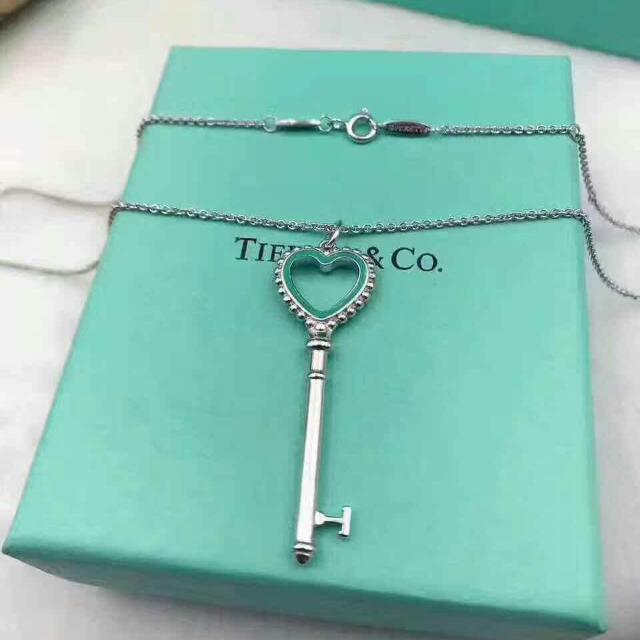 原廠正品 純銀Tiffany & co 心型簍空鑰匙項鍊