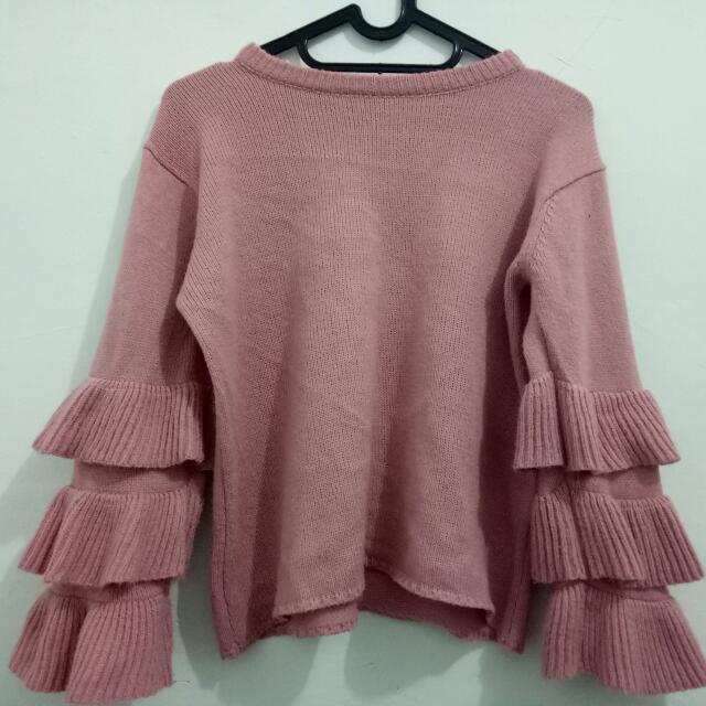 Adelle Ruffle Sweater