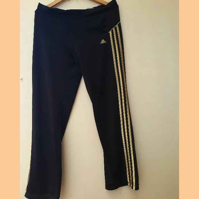 Adidas Track Pants With Gold Details