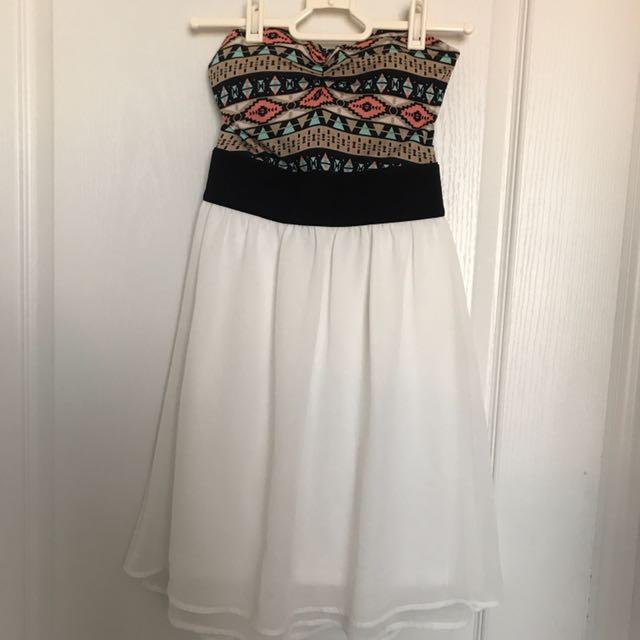 ADRENE strapless dress