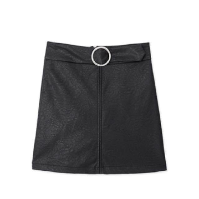 Air Spasce皮裙窄裙