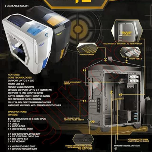 Armaggeddon Microtron T2x Gaming Case, Electronics, Computer Parts ...