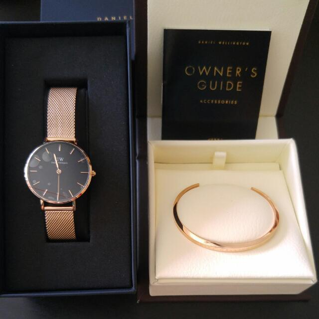 e5df3a5261ea Authentic Daniel Wellington 32mm Classic Petite In Melrose And Rose ...