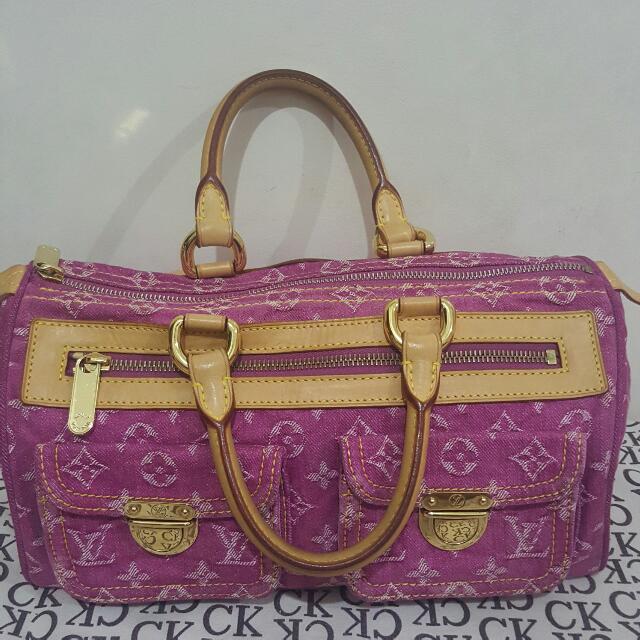 Authentic Lv Denim Bag..