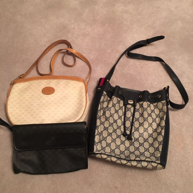 Authentic Vintage Gucci Bags Lot Of Three Women S Fashion Wallets On Carou
