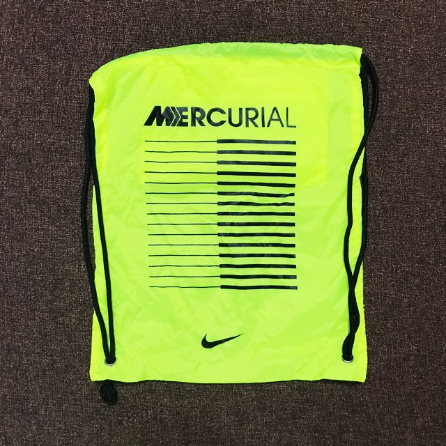 BN Nike Mercurial String Bag (Volt Black), Sports, Sports   Games ... 0b8b3803cf