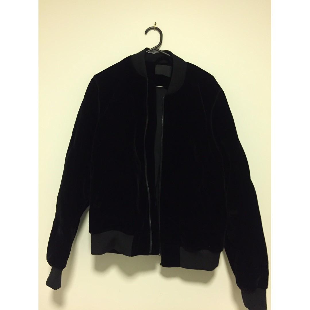 Brand New ASOS Velvet Bomber Jacket