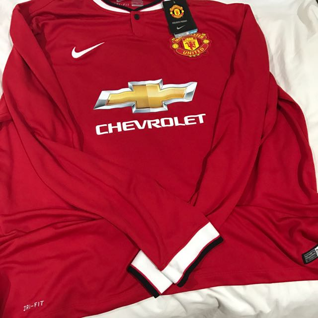 2f9da9b17 Brand New Authentic Manchester United 14 15 Home Long Sleeve Jersey ...