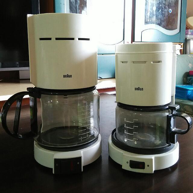 舊物出清/BRAUN二手沖泡咖啡壺兩件一起賣。$400(2件)
