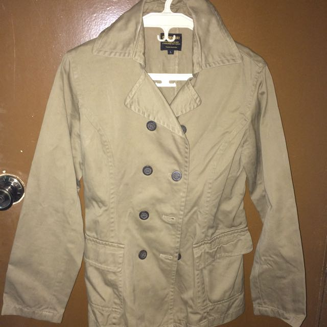 Brown Mid Trench Coat