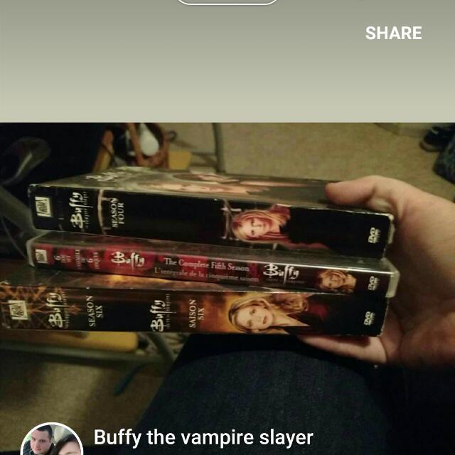 Buffy The Vampire Slayer Seasons 4,5&6