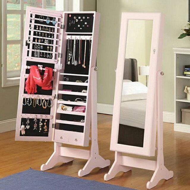 思薇亞夢幻穿衣鏡首飾收藏鏡櫃-韓國鏡櫃