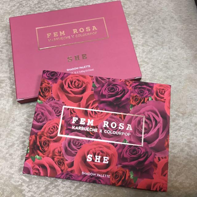 ⚠️瑕疵現貨⚠️Colourpop Fem Rosa SHE 玫瑰眼影盤