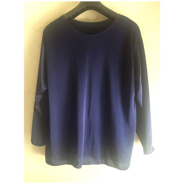 Dark Blue Long Sleevs Top