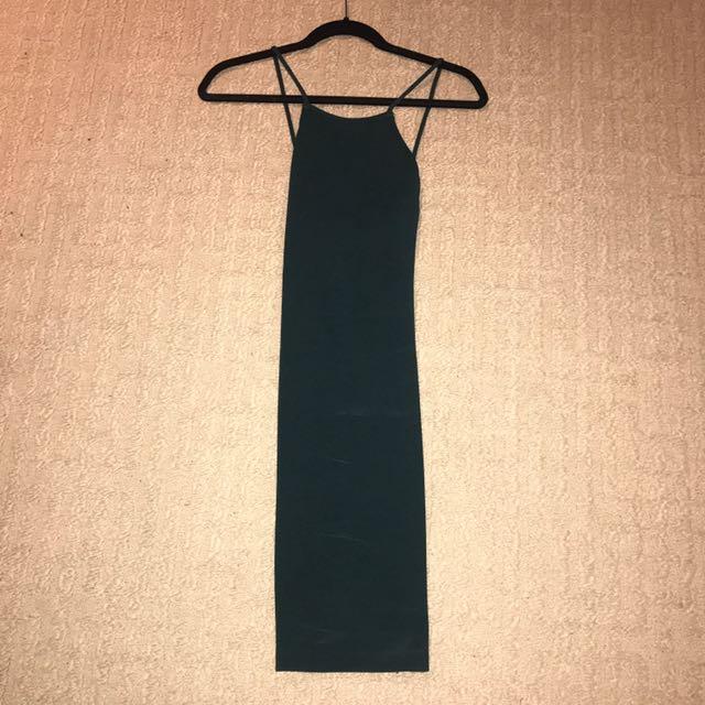 Elegant Dark Green Dress